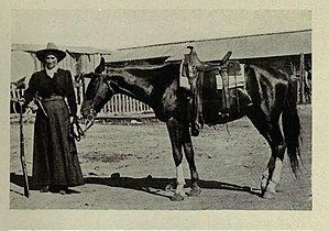 Calamity Jane a cheval