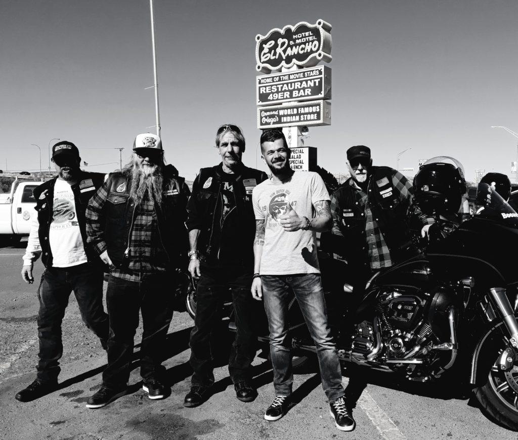 Frédéric et des amis motards