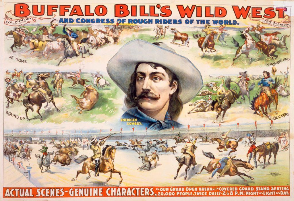 Ancienne affiche du Wild West de Buffalo Bill