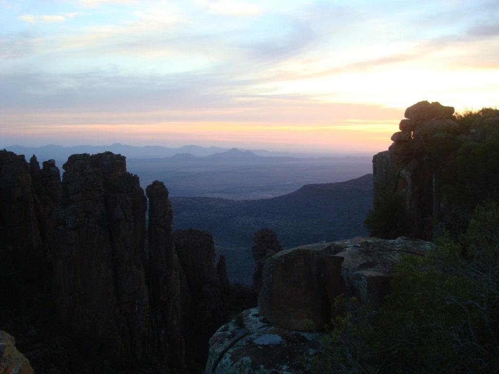 couché de soleil en Afrique du Sud