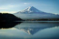 Mont fuji vu d'un lac